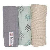 Multidoek Lodger Swaddler Empire Knot Silt Green (3-Delig)