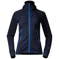 Vest Bergans Women Cecilie Wool Hood Navy Cloud Blue