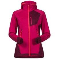 Vest Bergans Women Cecilie Wool Hood Bougainvillea Dark Cherry Strawberry