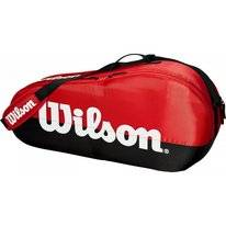 Tennistasche Wilson Team 1 Compartment Schwarz Rot
