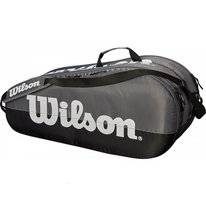 Tennistasche Wilson Team 2 Compartment Grau Schwarz