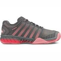 Tennisschuh K Swiss Women Hypercourt Express HB Steel Grey Calypso Flamingo Pink Damen