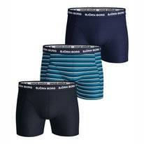 Boxershort Björn Borg Men Core Shorts Sammy BB Stripe Mykonos Blue (3 pack)