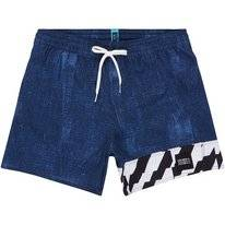 Boardshort O'Neill Men Textured Blue Aop w/ Blue