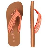 Slipper O'Neill Women 3 Strap Disty Neon Peach