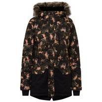 Skijacke O'Neill Zeolite Jacket Black AOP Yellow Damen