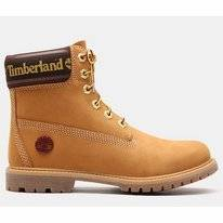 Timberland Women 6 Inch Premium Boot Logo Collar Wheat Nubuck