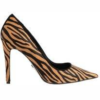 Dune Amaretti Tiger Print Leather
