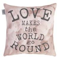 Coussin Ariadne at Home Love World Rose Doux (40 x 40 cm)