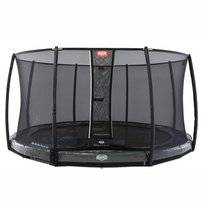 Trampoline BERG InGround Elite Grey 430 Levels + Safety Net Deluxe