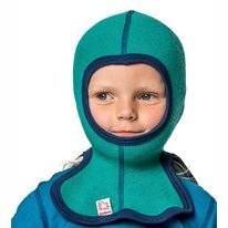 Balaclava Woolpower 200 Turtle Green Small Kinder