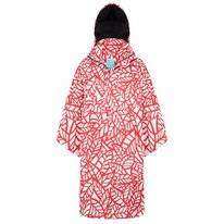 Poncho Happy Rainy Days Bike Cape Reva Leaf Off White Red