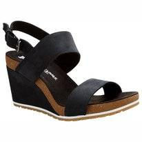 Timberland Capri Sunset Wedge Women Jet Black Naturebuck