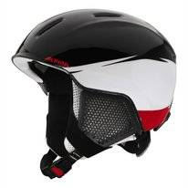 Skihelm Alpina Carat LX Black White Red Kids