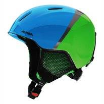 Skihelm Alpina Junior Carat LX Green Blue Grey