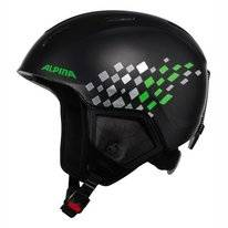 Skihelm Alpina Carat XT Kids Black Green Matt
