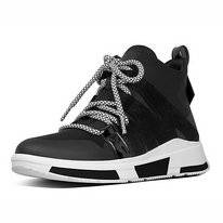 FitFlop Carita™ High-Top Sneakers Black