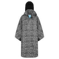 Poncho Happy Rainy Days Bike Cape Bernice Cheetah Black Off White