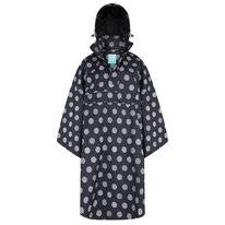 Poncho Happy Rainy Days Bike Cape Winny Globe Black Off White
