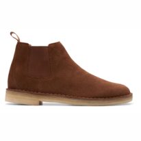 Clarks Originals Men Desert Chelsea Cola Suede