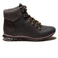 Cole Haan Women Zerogrand Hiker Boot Black Shearling
