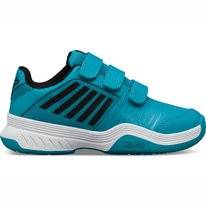 Tennis Shoes K-Swiss Junior Court Express Strap Omni Algiers Blue Black White