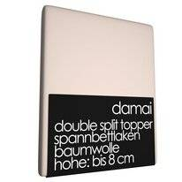 Double Split Topper Spannbettlaken 8 cm Damai Dust (Baumwolle)