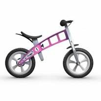 Loopfiets FirstBike Basic Pink With Brake