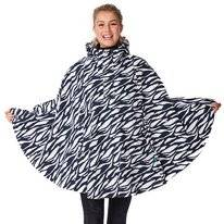Poncho Happy Rainy Days Poncho Cape Marit Zebra Midnight Off White
