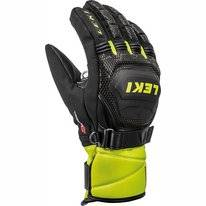 Gants Leki Junior Worldcup Race Coach Flex S GTX Black Ice Lemon