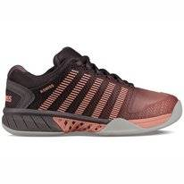 Tennisschuh K Swiss Hypercourt EXP Carpet Plum Kitten Coral Almond Gull Gray Damen