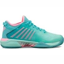 Chaussure de Tennis K-Swiss Women Hypercourt Supreme HB Blue Pink