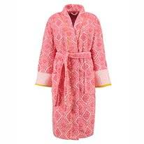 Peignoir Pip Studio Jacquard Check Long Dark Pink