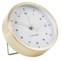 Wekker Karlsson Tinge Steel Brushed Gold White Dial