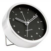 Wekker Karlsson Tinge Brushed Steel Black Dial