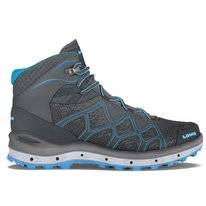 Walking Shoes Lowa Aerox GTX Mid Ws Graphite Turquoise