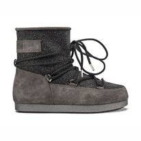Moon Boot Far Side Low Suede Black Damen
