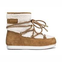 Moon Boot Far Side Low Shearling Whiskey Damen