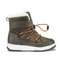 Moon Boot Bottes de Neige Junior Boy Boot WP Olive Green Orange