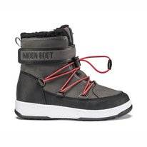 Moon Boot Bottes de Neige Junior Boy Boot WP Black Dark Gray