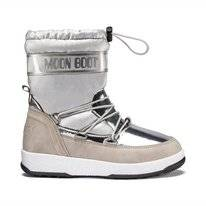 Moon Boot Soft WP Silber Kinder