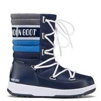 Moon Boot Junior Quilted WP Navy Royal Silver Kinder