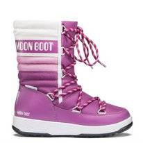 Moon Boot Junior Quilted WP Orchid Pink White Kinder