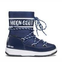 Moon Boot Sport Junior WP Navy Blau Weiß Kinder