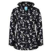 Regenjacke Happy Rainy Days Jacket Brisa Blossom Black Off White Damen