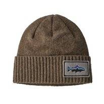 Muts Patagonia Brodeo Beanie Fitz Roy Trout Patch Ash Tan