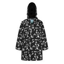 Poncho Happy Rainy Days Bike Cape Brisa Blossom Black Off White