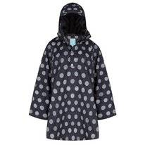Poncho Happy Rainy Days Cape Winny Globe Black Off White