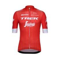 Fietsshirt Santini Men Trek-Segafredo Blend Short Sleeve Zip Red