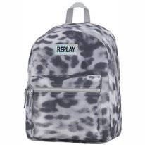 Rugzak Replay Girls Leopard Grey